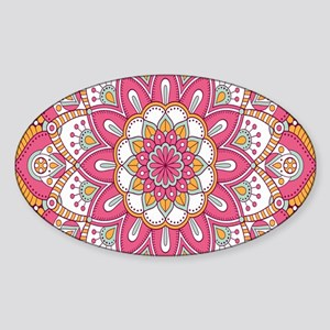 Colorful Bohemian Paisley Sticker (Oval)