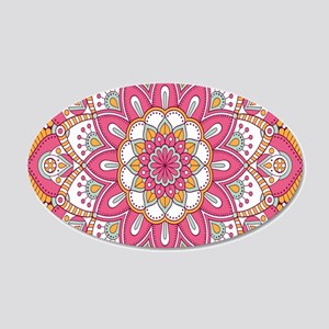Colorful Bohemian Paisley 20x12 Oval Wall Decal