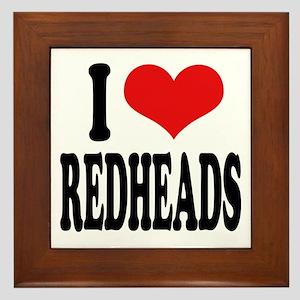 I Love Redheads Framed Tile