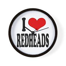 I Love Redheads Wall Clock
