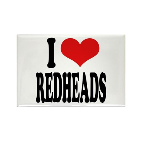 I Love Redheads Rectangle Magnet (10 pack)