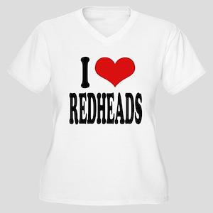 I Love Redheads Women's Plus Size V-Neck T-Shirt