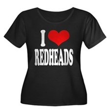 I Love Redheads Women's Plus Size Scoop Neck Dark