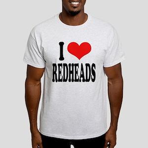 I Love Redheads Light T-Shirt