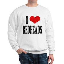 I Love Redheads Sweatshirt