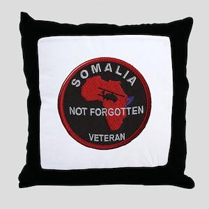 Somalia Veteran Throw Pillow