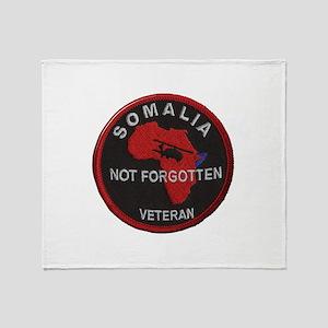 Somalia Veteran Throw Blanket