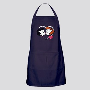 I Love Lucy: Stick Heads Kiss Apron (dark)