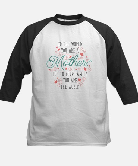 You Are The World Kids Baseball Jersey