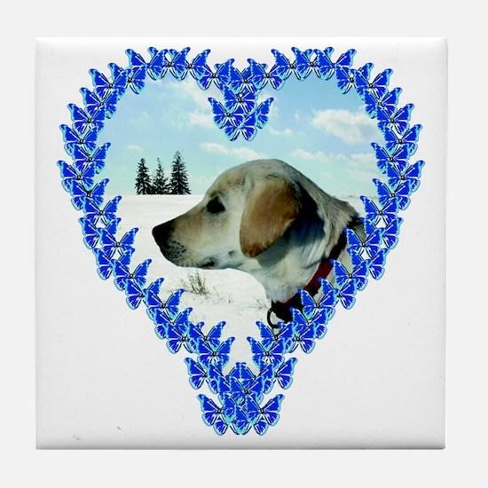 Puppy Valentines Tile Coaster