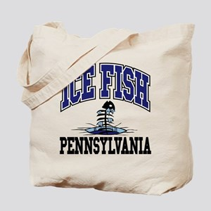 Ice Fish Pennsylvania Tote Bag