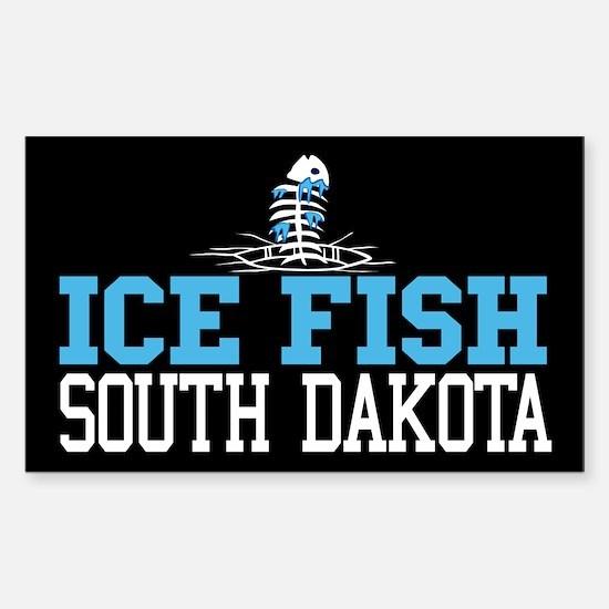 Ice Fish South Dakota Rectangle Decal