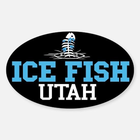 Ice Fish Utah Oval Decal