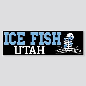 Ice Fish Utah Bumper Sticker