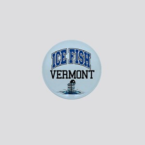 Ice Fish Vermont Mini Button
