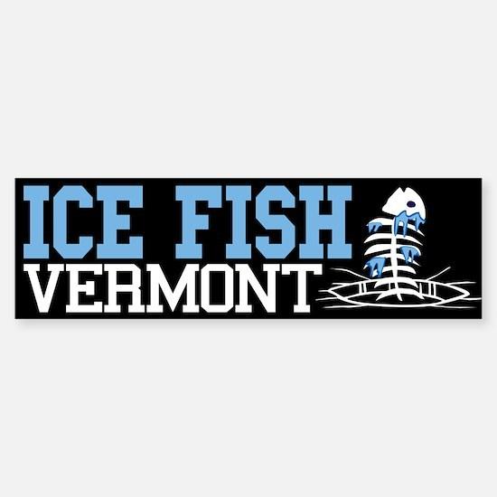 Ice Fish Vermont Bumper Bumper Bumper Sticker