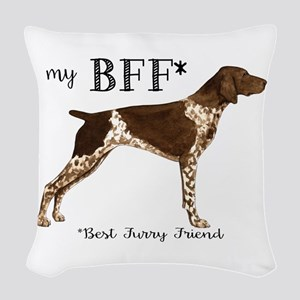 German Shorthaired Pointer BFF Woven Throw Pillow