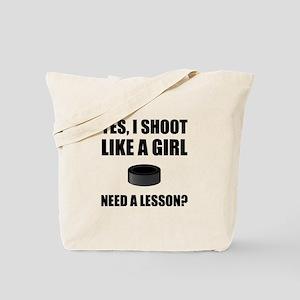 Like A Girl Hockey Tote Bag