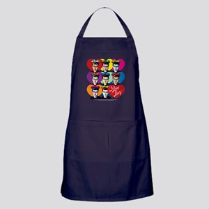 I Love Lucy: Headshot Hearts Apron (dark)
