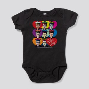 I Love Lucy: Headshot Hearts Baby Bodysuit