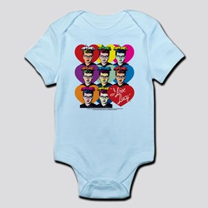 I Love Lucy: Headshot Hearts Infant Bodysuit