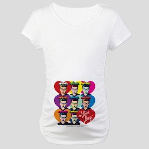 I Love Lucy: Headshot Hearts Maternity T-Shirt