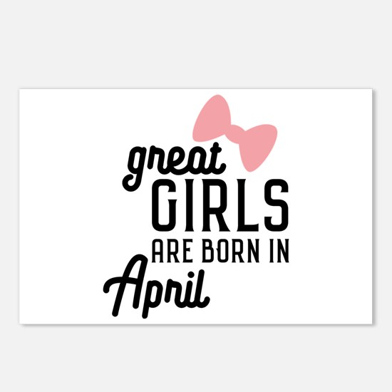Great Girls are born in A Postcards (Package of 8)