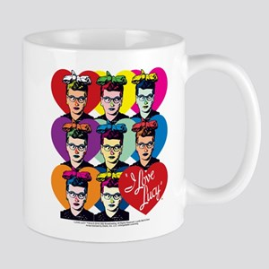 I Love Lucy: Headshot Hearts Mug