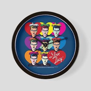 I Love Lucy: Headshot Hearts Wall Clock