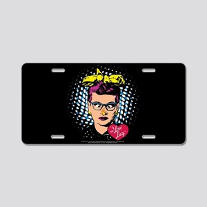 I Love Lucy: Nose on Fire Aluminum License Plate