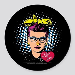 I Love Lucy: Nose on Fire Round Car Magnet