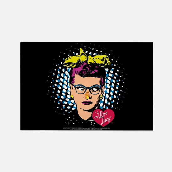 I Love Lucy: Nose on Fire Rectangle Magnet