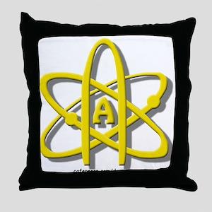 Golden A-Theist Symbol Throw Pillow
