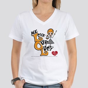 We Love Our Lucy Women's V-Neck T-Shirt
