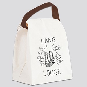 Hang Loose Sloth Canvas Lunch Bag