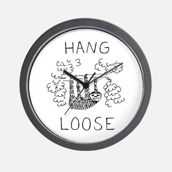 Hang Loose Sloth Wall Clock