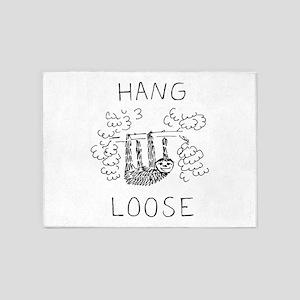 Hang Loose Sloth 5'x7'Area Rug