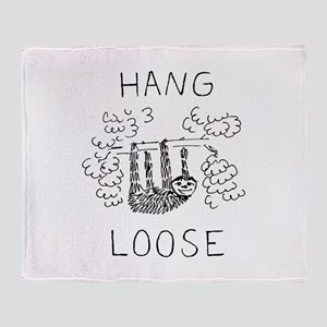 Hang Loose Sloth Throw Blanket