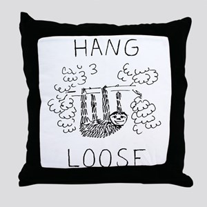 Hang Loose Sloth Throw Pillow