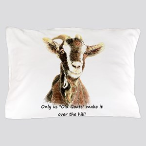 Over the Hill Old Goat Humor Quote Pillow Case