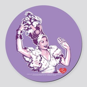 I Love Lucy: Lucy Rumba Round Car Magnet