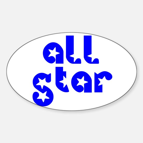 all star Oval Decal