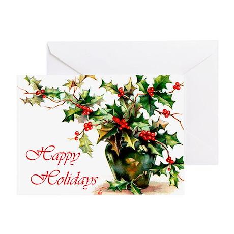 Holly Holidays Greeting Card