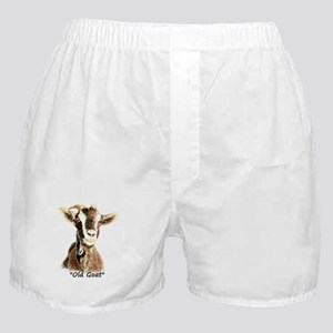 """Old Goat Fun """"Over the Hill"""" Quote fo Boxer Shorts"""