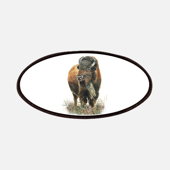 Watercolor Buffalo Bison Animal Art Patch