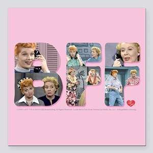 "I Love Lucy: BFF Square Car Magnet 3"" x 3"""