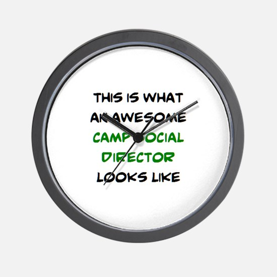 awesome camp social director Wall Clock