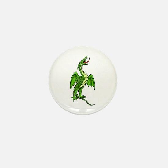 Green Dragon Mini Button