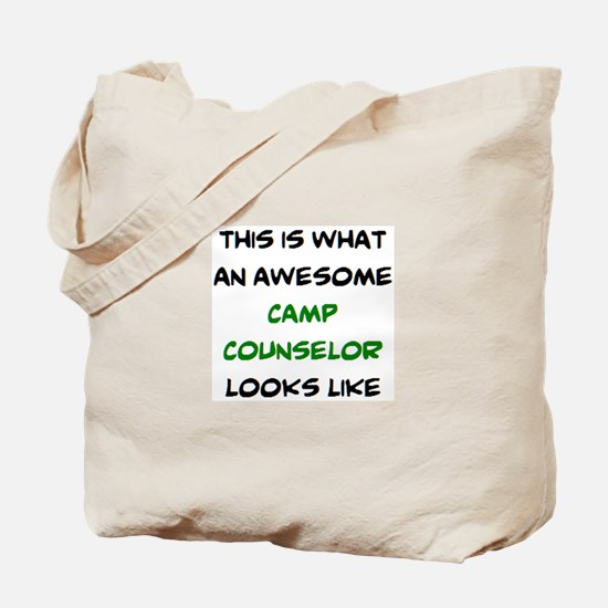awesome camp counselor Tote Bag