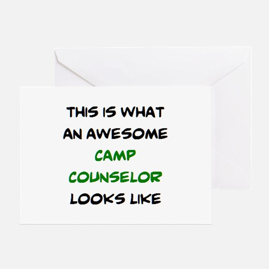 awesome camp counselor Greeting Card
